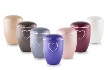 Biodegradable Urn – Swarovski Heart - £125.00