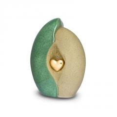 Ceramic Jade & Sandstone Heart - £195