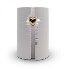 Ceramic Wrapped Heart LED (White) - £275