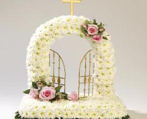 Tributes Elegant White Gates Heaven - £150