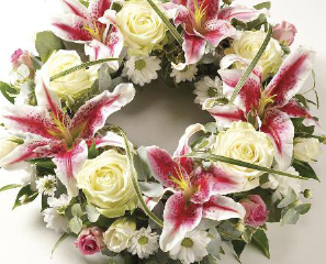 Wreathes - Rose & Lily from £65