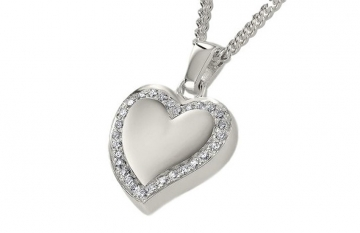 Sterling Silver Abstract Crystal Heart Pendant - £210.00