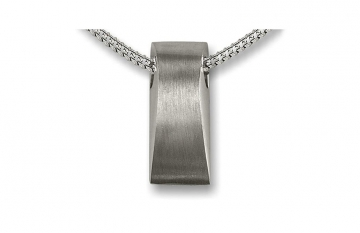 Sterling Silver Curved Wedge Pendant - £120.00
