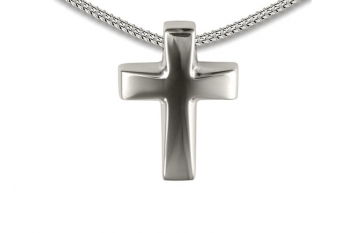 Sterling Silver Cross Slide Pendant - £135.00
