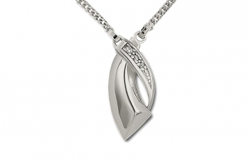 Sterling Silver Crossover Pendant - £160.00